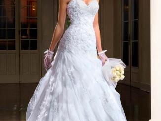 vestido moderno tomara que caia para noivas