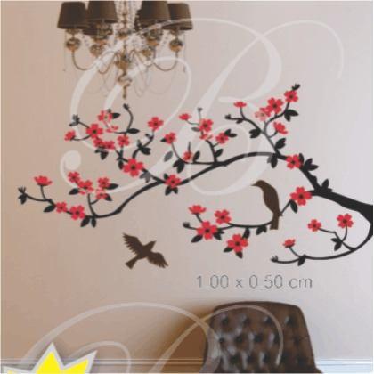 Adesivos decorativos de parede de rvores para sala e for Articulos decorativos para casa