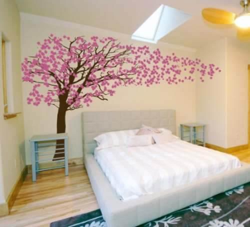 Adesivos decorativos de parede de rvores para sala e for Vinilos juveniles ikea