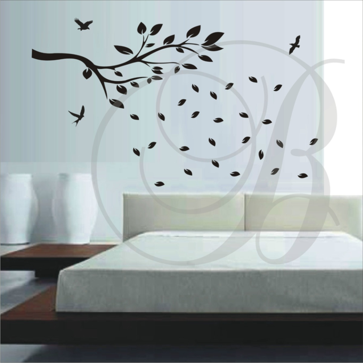 Adesivos decorativos de parede de rvores para sala e - Papel decorativo infantil ...