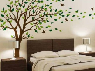 adesivos decorativos de parede de arvores colorido