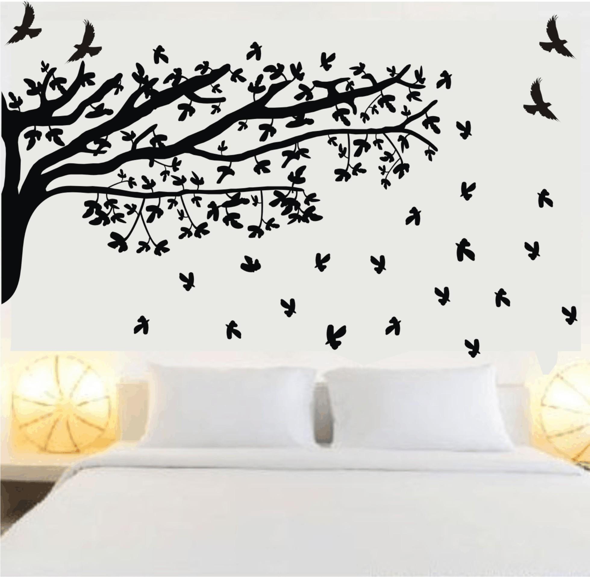 Adesivos Decorativos De Parede De Rvores Para Sala E Quartos  -> Adesivo Para Decoracao De Sala