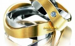 Alianças de Casamento em Ouro amarelo e Branco, Fotos e Modelos