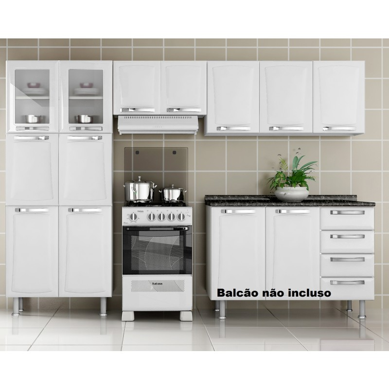 Cozinhas de a o itatiaia modernos modelos ideias mix for Modelos de zapateros modernos