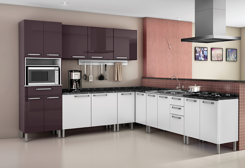 Cozinhas de Aço Itatiaia Modernos Modelos Ideias Mix #7E584D 1500 1028