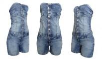 macacao curto jeans feminino 1
