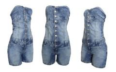 Macacão Curto Jeans Feminino, Fotos e Modelos