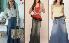 Saias Longas Jeans da Moda Evangélica
