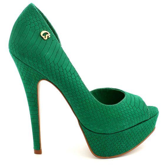 sapatos femininos carmen steffens verde