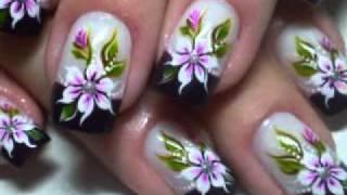 Unhas Decoradas Com Flores Mexicanas Passo A Passo Ideias Mix