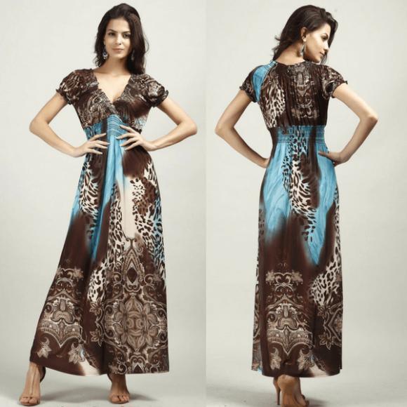 vestidos longos da moda evangélica animal print