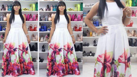 vestidos longos da moda evangélica rodado