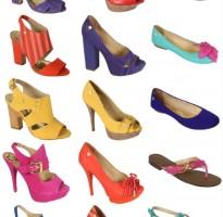 coleção de calçados lança perfume sandálias