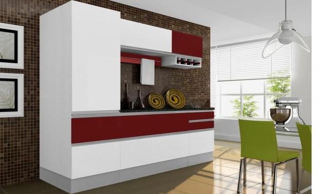 Cozinhas Completas, Diferentes Modelos E Marcas ~ Decoracao De Cozinha Vermelha E Preta