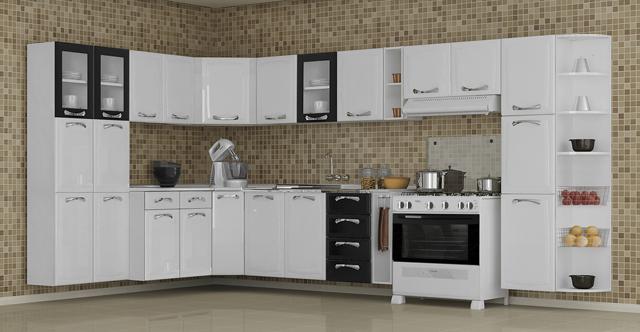 Cozinhas Completas, Diferentes Modelos e Marcas  Ideias Mix # Cozinha Planejada Loja Cem