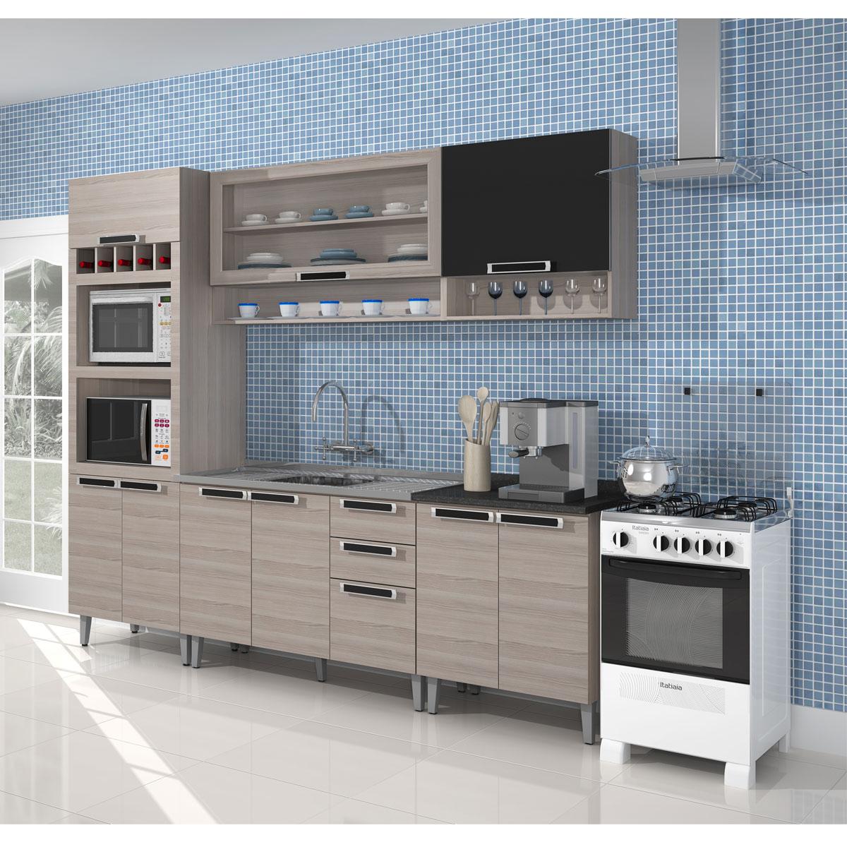 #4C677F Cozinhas Completas Diferentes Modelos e Marcas Ideias Mix 1200x1200 px Armario De Cozinha Compacta De Canto #1943 imagens
