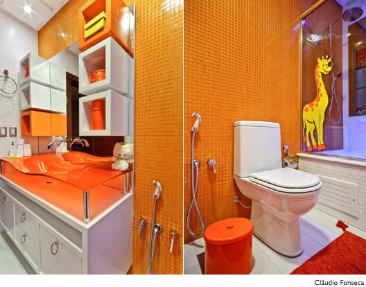 Cuba para Banheiro, Modelos Coloridas e de Diferentes Modelos  Ideias Mix -> Cuba Para Banheiro Laranja