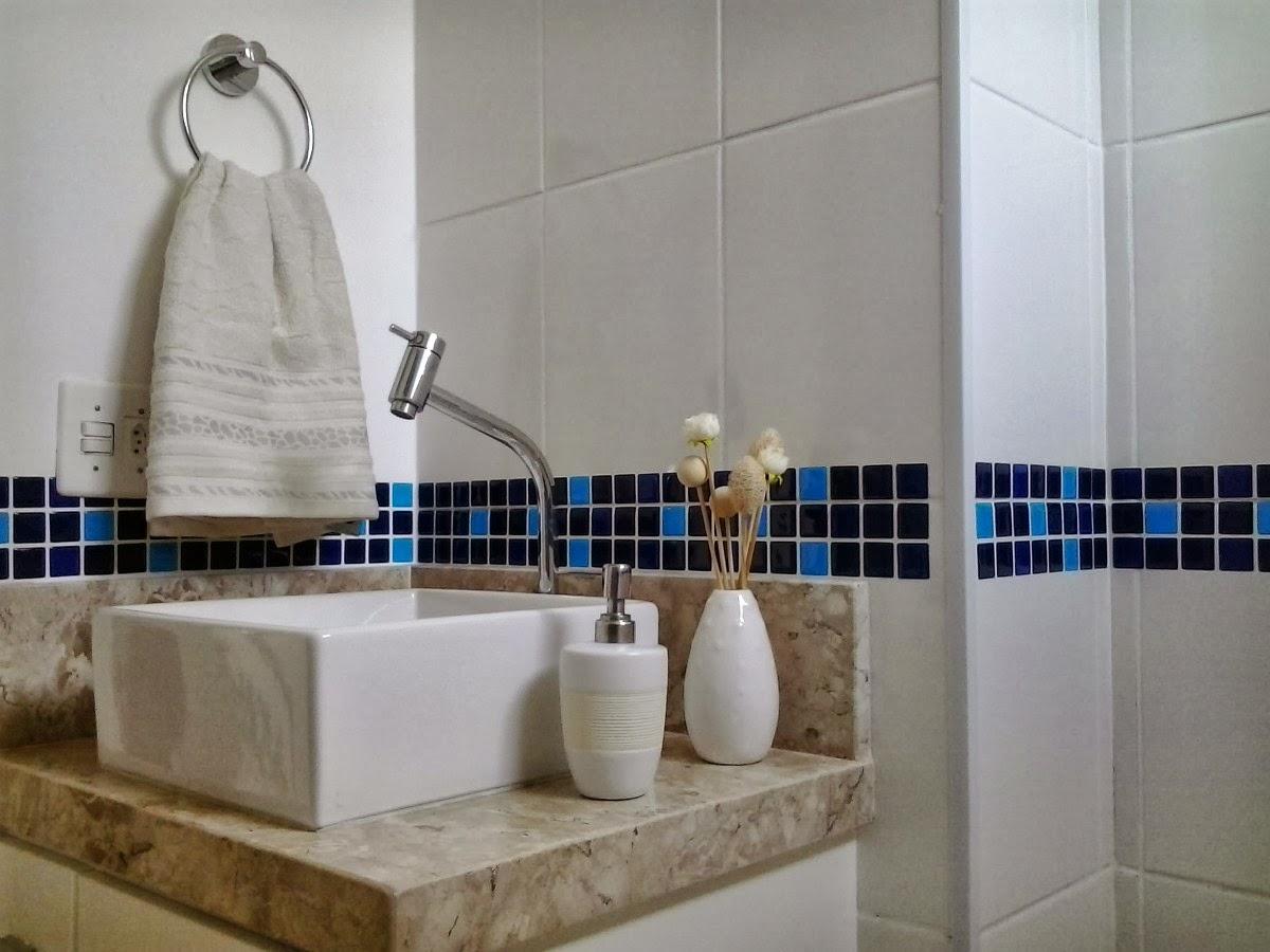 Decoração de Banheiro com Pastilhas, Ótima opção para seu Banheiro  Ideias M -> Decoracao De Banheiro Com Pastilhas Vermelhas