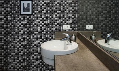 Decoração de Banheiro com Pastilhas, Ótima opção para seu Banheiro  Ideias Mix -> Decoracao De Banheiro Com Pastilha Adesiva