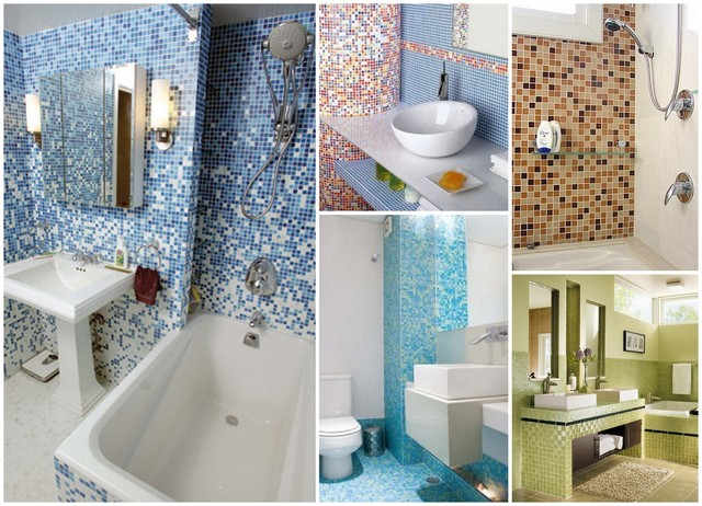 Decoração de Banheiro com Pastilhas, Ótima opção para seu Banheiro  Ideias Mix -> Banheiro Com Pastilha De Vidro Amarela