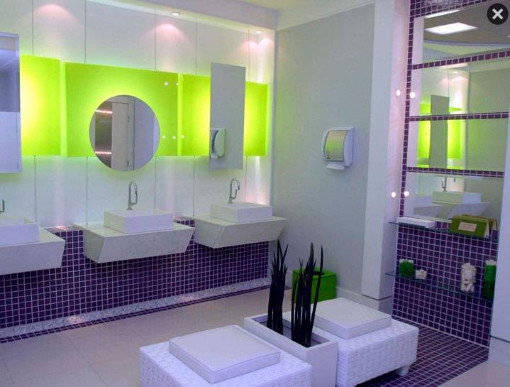 Decoração de Banheiro com Pastilhas, Ótima opção para seu Banheiro  Ideias Mix -> Banheiros Modernos Pastilhados
