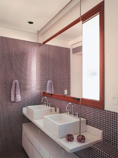 Decoração de Banheiro com Pastilhas, Ótima opção para seu Banheiro  Ideias Mix # Decoracao De Banheiro Com Pastilhas Lilas
