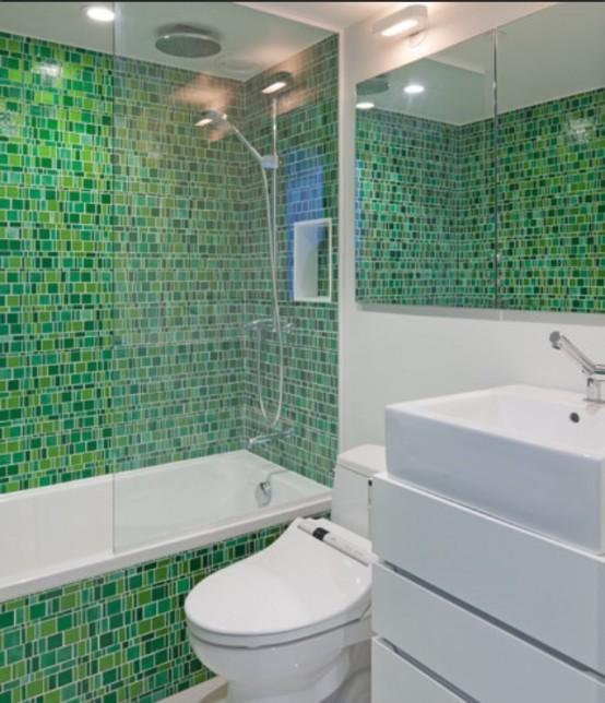 Decoração de Banheiro com Pastilhas, Ótima opção para seu Banheiro  Ideias M # Decoracao De Banheiro Com Pastilha Adesiva