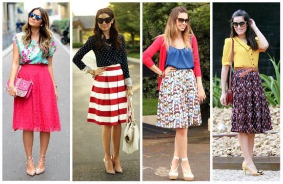 modelos de saias midi estampadas