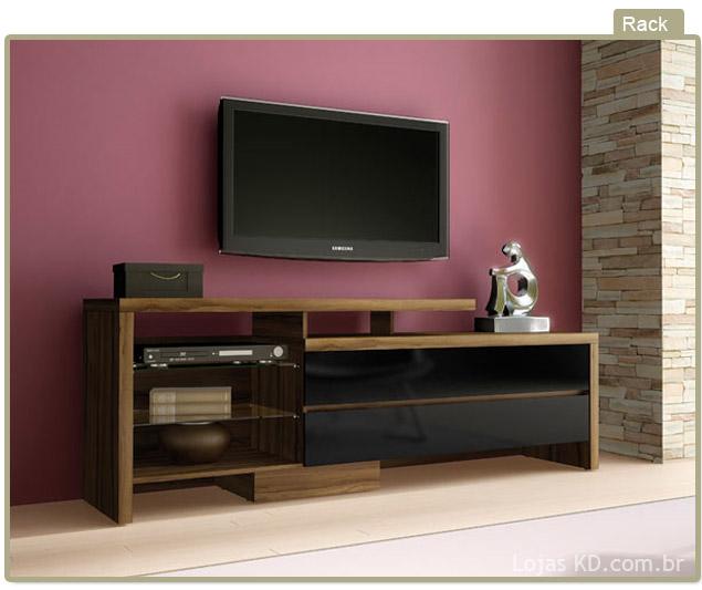 Rack para sala de tv diversos modelos em fotos ideias mix for Modelos de modulares para sala