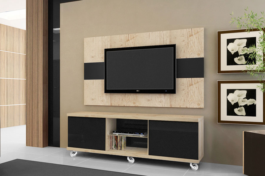 Sala De Tv Com Rack ~ Rack para Sala de TV, Diversos Modelos em Fotos  Ideias Mix