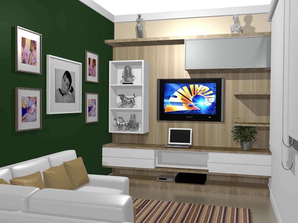 Rack Para Sala De Tv Diversos Modelos Em Fotos Ideias Mix -> Sala De Tv Verde