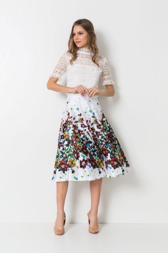 saias midi estampadas da moda