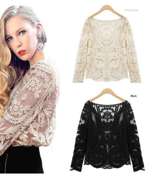belas blusas transparentes estampadas da moda ver o ideias mix