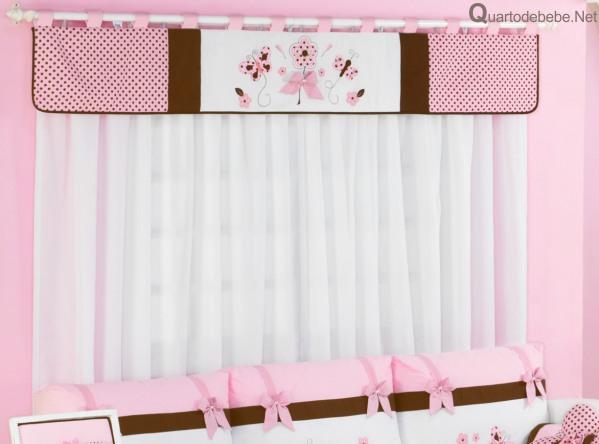 Confira dicas de cortinas para quarto de beb menina ideias mix - Cortinas para nino ...