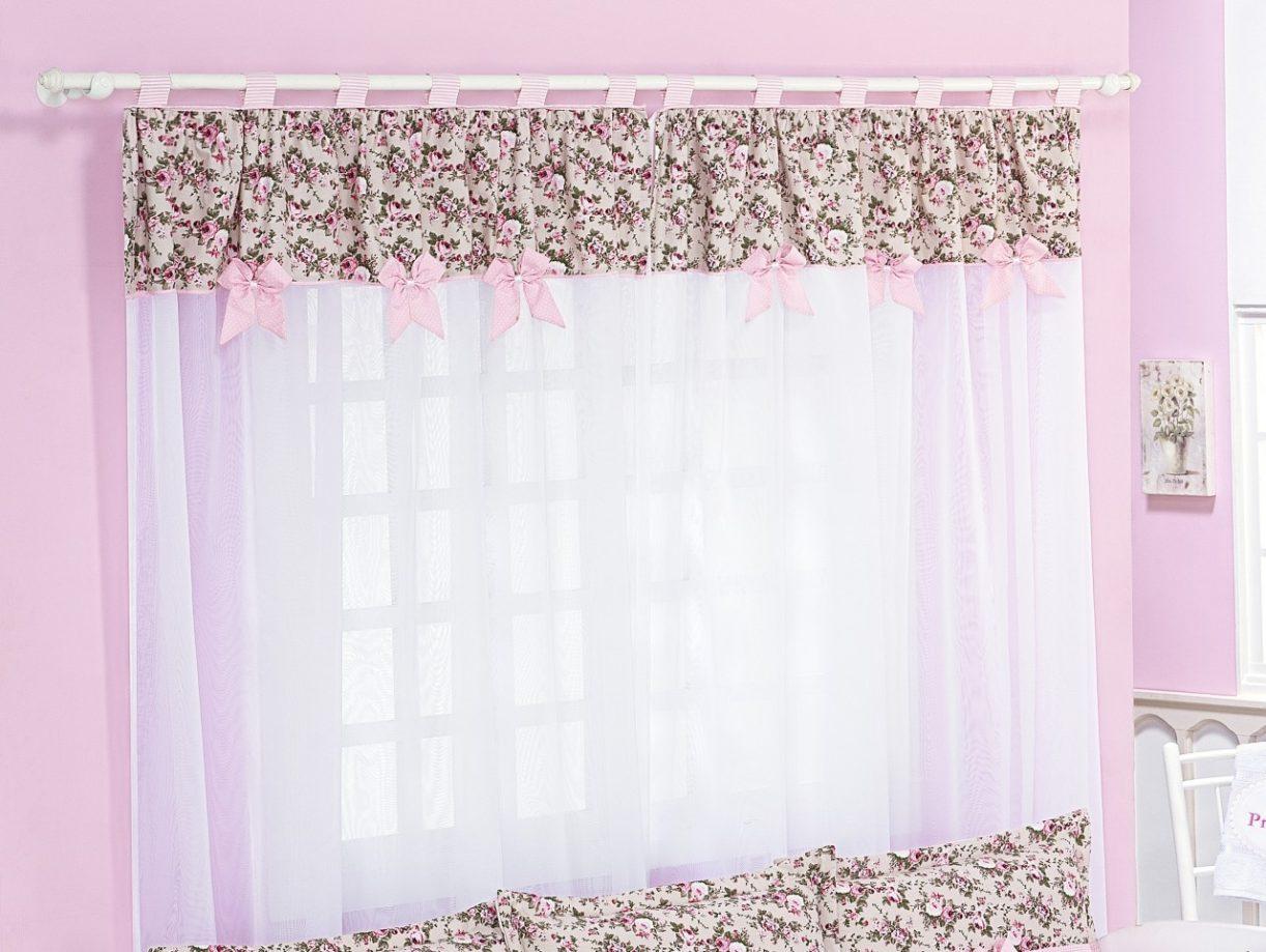 Confira dicas de cortinas para quarto de beb menina ideias mix - Modelos de cenefas para cortinas ...