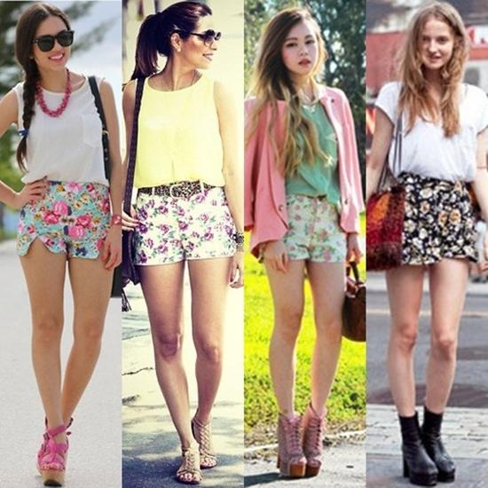 shorts floral como usar  4282013273bda