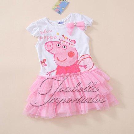 Pronta entrega 6A Vestido Peppa Pig no Elo7   Alice Baby Virtual (5A86D2)