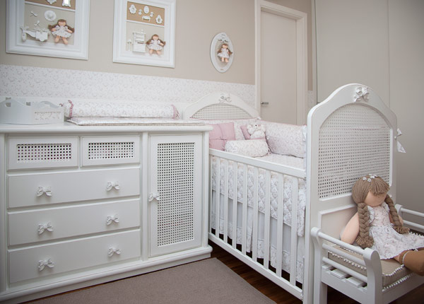 decoracao tudo branco:Confira as Melhores Dicas de Decoração para Quarto de Bebê Feminino