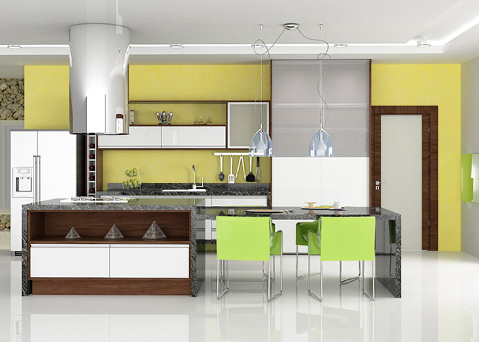 cozinha planejada grande compacta