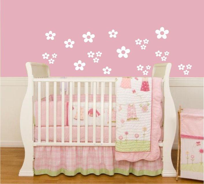Confira as Melhores Dicas de Decoração para Quarto de Bebê  ~ Adesivos De Parede Para Quarto De Bebe Feminino