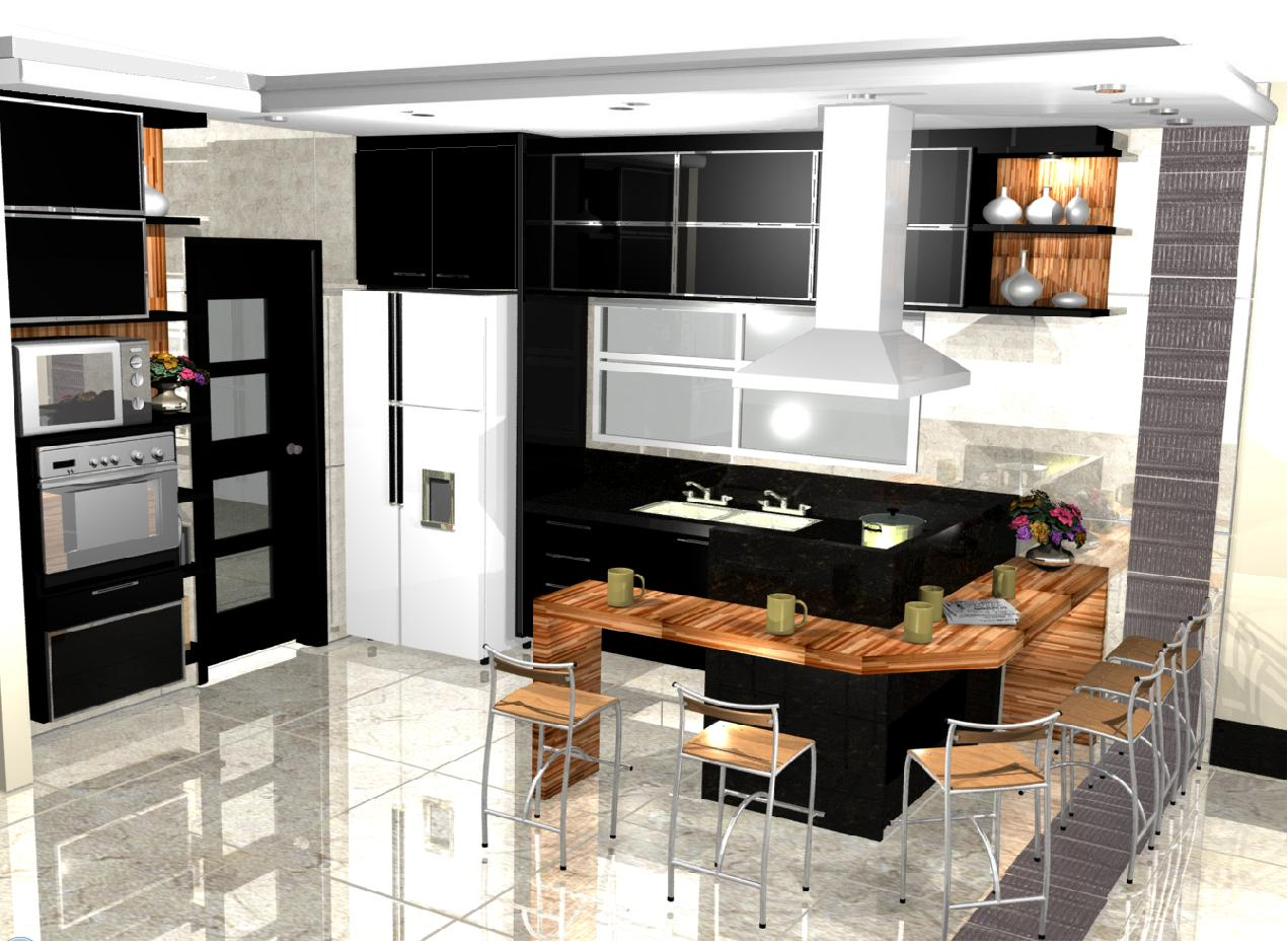 Wibamp Com Cozinha Americana Moderna Planejada Id Ias Do Projeto