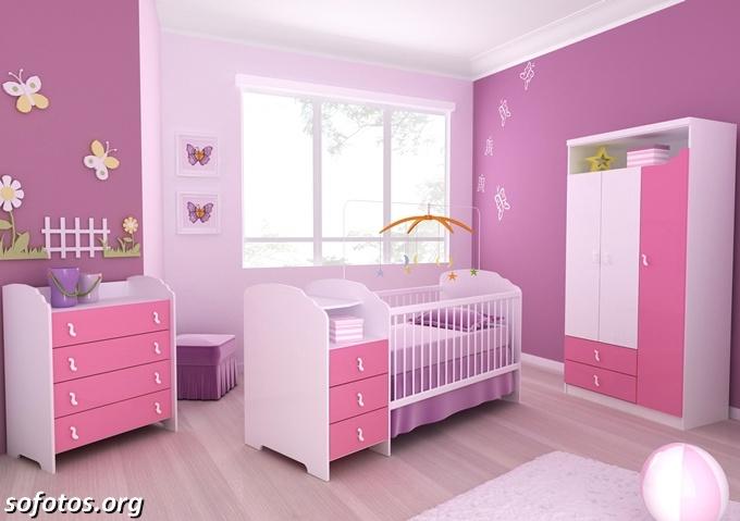Confira as Melhores Dicas de Decoração para Quarto de Bebê  ~ Quarto Rosa Fotos