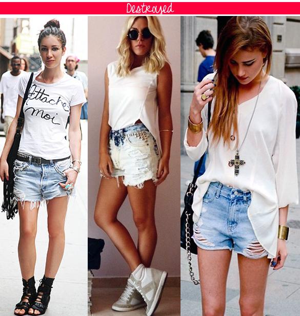 Veja Belos Modelos de Shorts Jeans Destroyed da Moda Atual | Ideias Mix