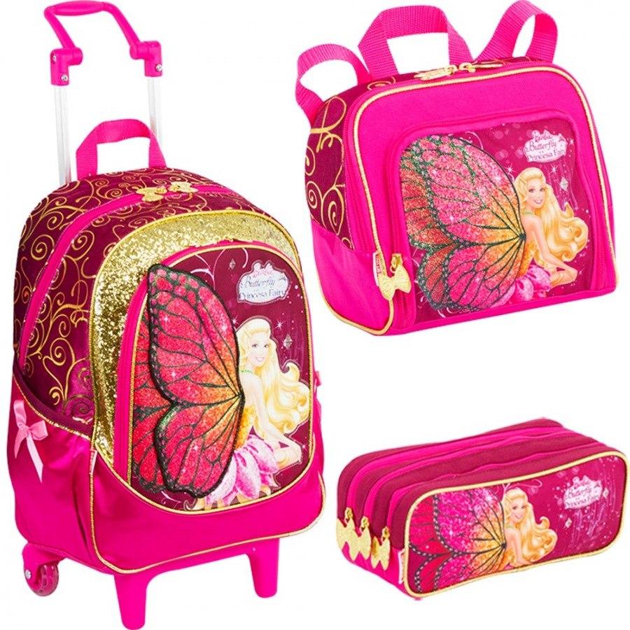 Confira belas mochilas escolares da barbie para volta as for Modelos de carteleras escolares