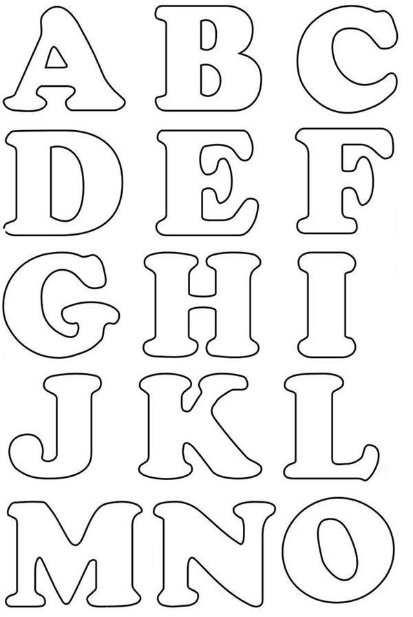 Confira os Melhores Moldes de Letras em EVA