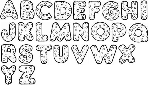 Confira os melhores moldes de letras em eva ideias mix - Letras grandes decoradas ...