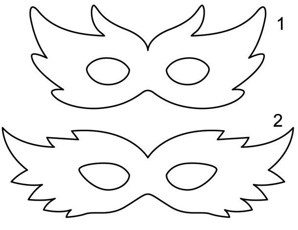 Moldes para mascara de carnaval - Imagui