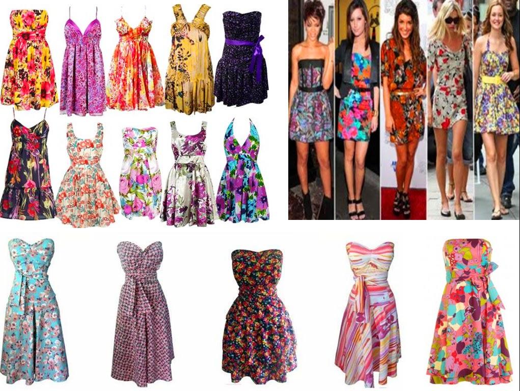 Vestidos Curtos Florais da Moda Atual