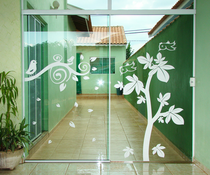 confira belos adesivos decorativos para portas de vidroForAdesivos P Porta De Vidro