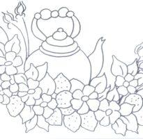 Moldes Em Desenhos Para Pano De Prato Para Imprimir Ideias Mix